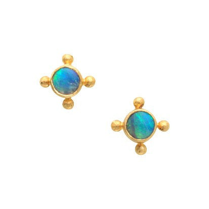 Steven Battelle Four Point Opal Earrings