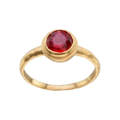 Steven Battelle Ruby Basket Ring