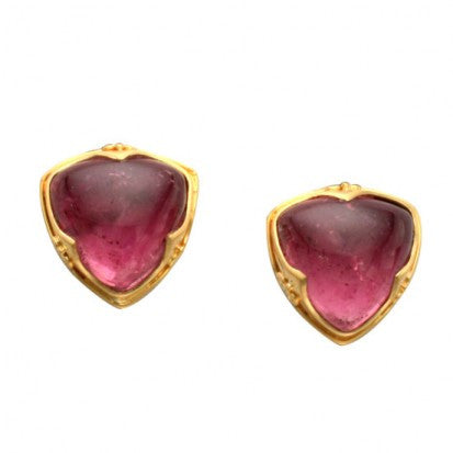 Steven Battelle Ornate Tourmaline Earrings