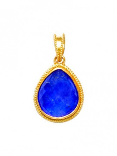 Steven Battelle Tanzanite Braid Pendant Necklace
