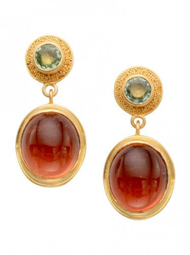 Steven Battelle Cabochon Dangle Earrings