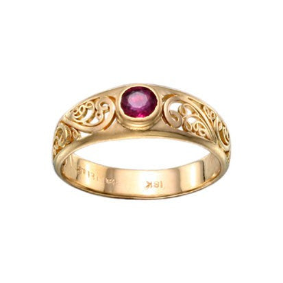 Steven Battelle Handword Ruby Ring
