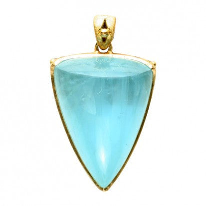Steven Battelle Aquamarine Three Point Pendant Necklace