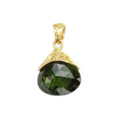 Steven Battelle Faceted Briolite Pendant Necklace