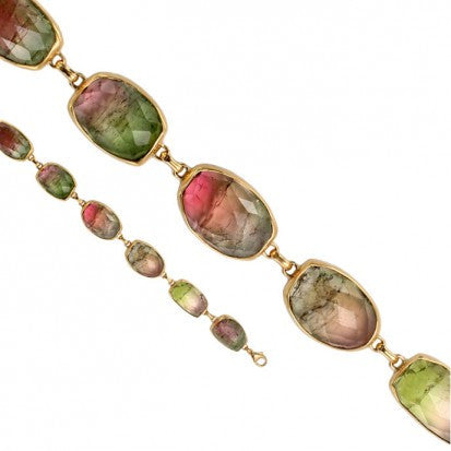 Steven Battelle Faceted Stone Tourmaline Bracelet