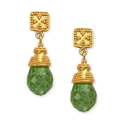 Steven Battelle Post Drop Tourmaline Earrings