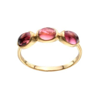 Steven Battelle Triple Oval Tourmaline Ring