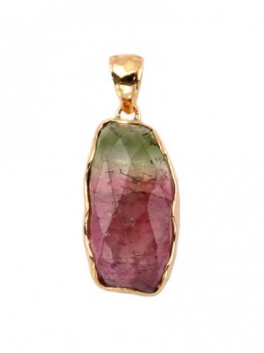 Steven Battelle Mixed Watermelon Tourmaline Pendant Necklace