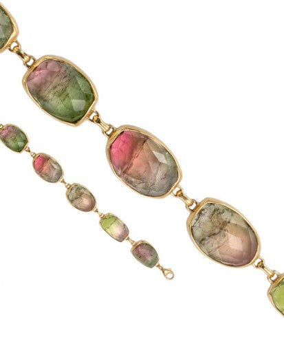 Steven Battelle Mixed Faceted Tourmaline Bracelet
