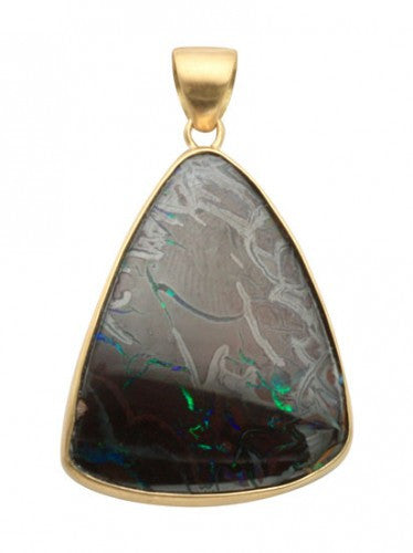 Steven Battelle Trilium Drop Pendant Necklace