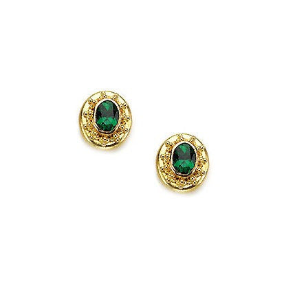 Steven Battelle Tsavorite Post Earrings