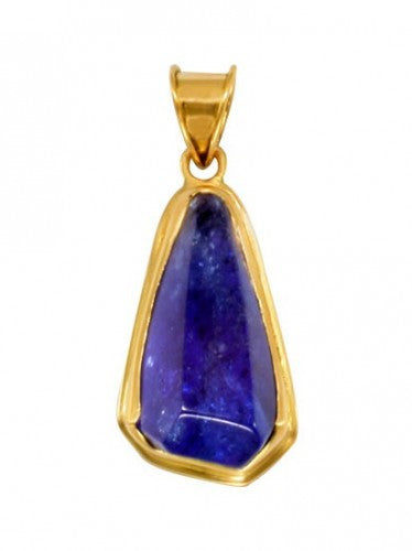 Steven Battelle Double Bezel Tanzanite Pendant Necklace