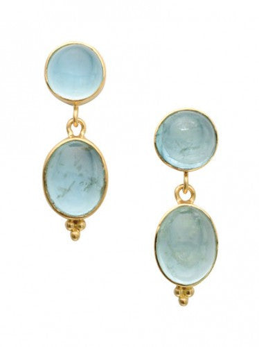 Steven Battelle Dangle Aquamarine Earrings