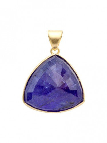 Steven Battelle Tanzanite Trilium Pendant Necklace