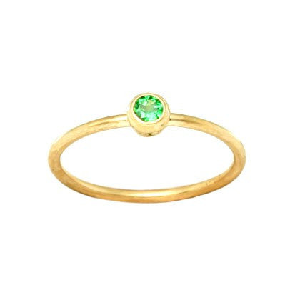 Steven Battelle Simple Tsavorite Ring