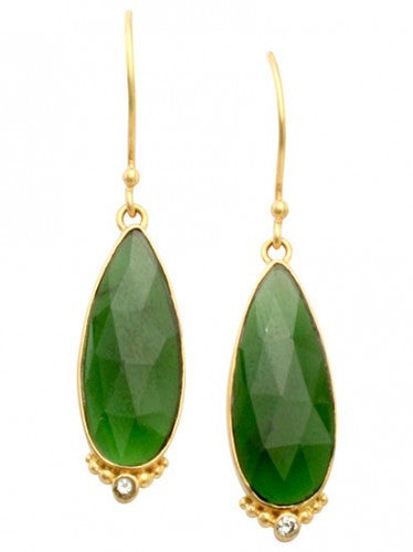 Steven Battelle Pear Earrings