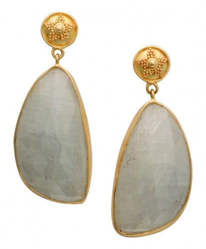 Steven Battelle Stone Dangle Earrings