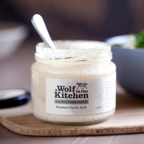 Roasted Garlic Aioli - A Wolf in the Kitchen