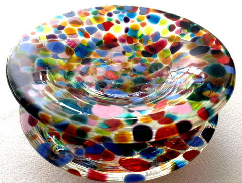 Blown Glass Salt & Pepper Dishes