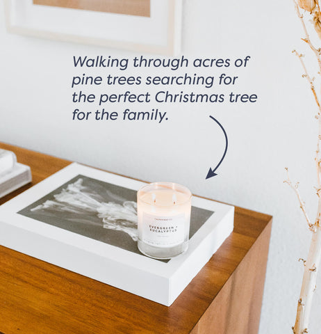 image of evergreen and eucalyptus candle