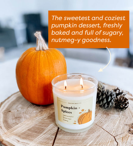 image of pumpkin and spices fall candle