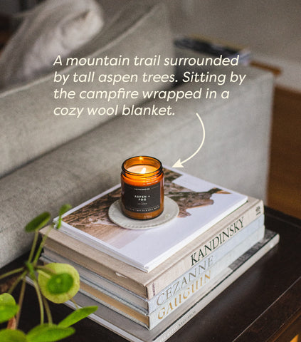 image of aspen and fog candle on table