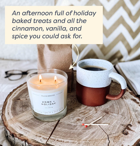 image of home and holiday candle