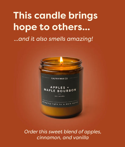 image of apples and maple bourbon candle