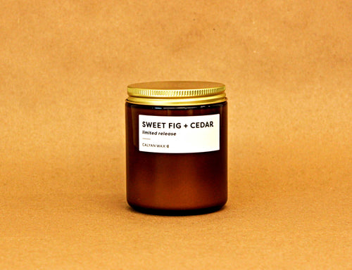 Sweet Fig + Cedar Amber Jar | Limited Release
