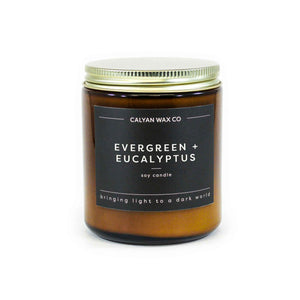 Evergreen + Eucalyptus Amber Jar
