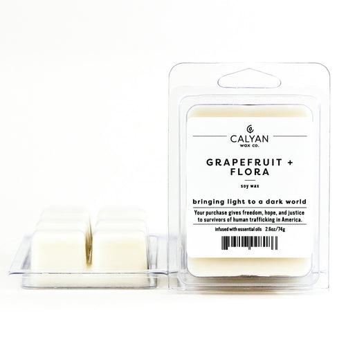 Grapefruit + Flora Wax Melt