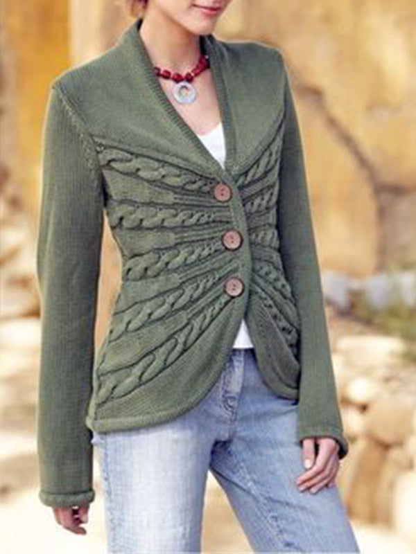 Langarm Strickjacke
