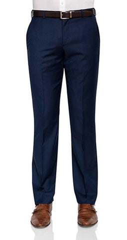Cambridge Suit Pants In Plain Dark Blue