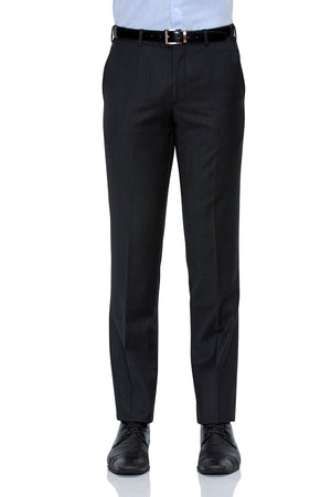 Cambridge Suit Pants In Self Check Charcoal Modern Fit