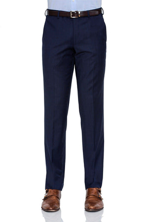 Cambridge Suit Pants In Self Check Navy Modern Fit