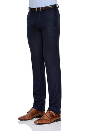 Cambridge Suit Pants in Self Weave Pattern Blue