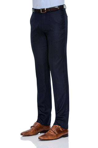 Image of Cambridge Suit Pants In Self Weave Pattern Blue