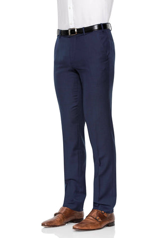 Cambridge Suit Pants In Subtle Self Check Dark Blue Classic Fit