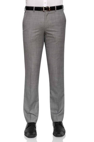Cambridge Washable Wool Pants In Light Grey