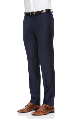 Cambridge Washable Wool Pants In Light Navy