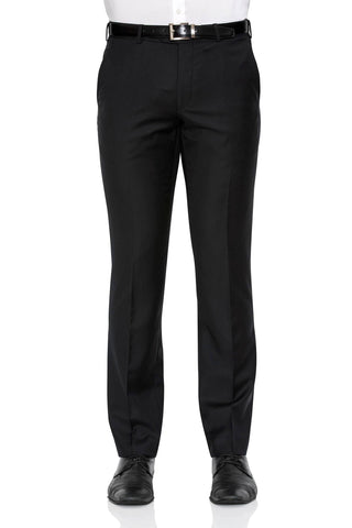 Cambridge Washable Wool Pants In Plain Black