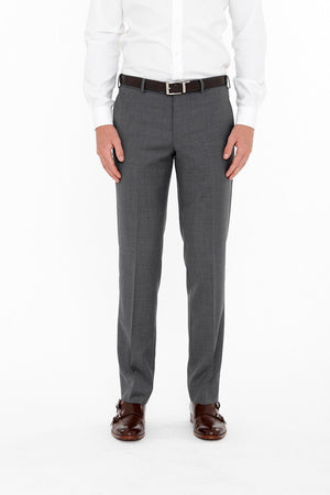 Cambridge Washable Wool Pants In Plain Grey