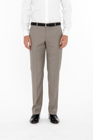 Cambridge Washable Wool Pants In Plain Taupe