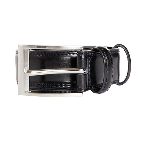 H Co Black Leather Mens Belt