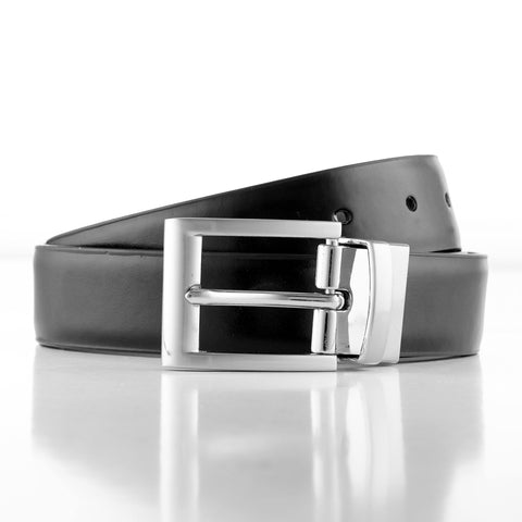 Joe Black Leather Black Brown Reversible Mens Belt