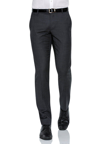 Joe Black Suit Pants In Textured Charcoal