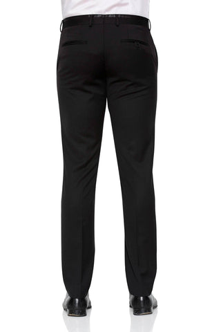 Joe Black Tuxedo Pants In Black