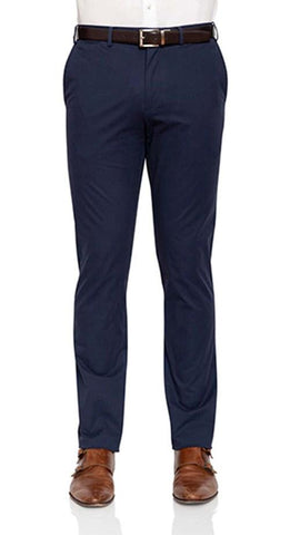 Men Moden Fit Chinos In Navy By Cambridge