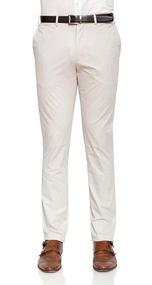 Men Moden Fit Chinos In Stone By Cambridge