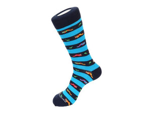 Men's High Ankle, Crew Socks With Designs